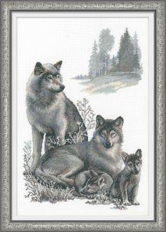 Wolves - Cross Stitch Kits by RIOLIS - 100/021