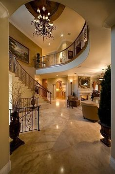 I Love Unique Home Architecture. Simply stunning architecture engineering full of charisma nature love. The works of architecture shows the harmony within. Home Living, Luxury Living, Stairs In Living Room, Living Rooms, Living Spaces, House Goals, Home Fashion, My Dream Home, Future House