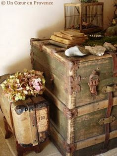 Love the vintage cases with the flowers <3