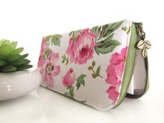 Womens Wallet, Vegan Wallet, Beautiful Floral on canvas fabric, Handmade Women's wallet that packed with safety for your goodies by CoversCrafts on Etsy https://www.etsy.com/listing/220202335/womens-wallet-vegan-wallet-beautiful
