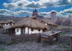 ukrainian village People Around The World, Around The Worlds, Medieval Village, Ukrainian Art, Vernacular Architecture, Fantasy Places, Largest Countries, We Are The World, My Heritage