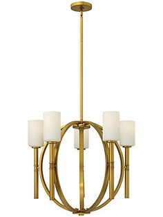 Margeaux 5 Arm Chandelier With Etched Opal Glass Shades ---Eating Nook Chandelier