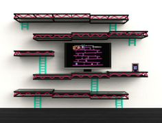 Donkey Kong Shelves|| I must do this for my Boy's rooms! I could do a different game in each!!