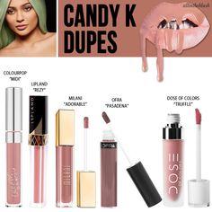 Kylie Jenner Cosmetics Candy K Lipkit Dupes