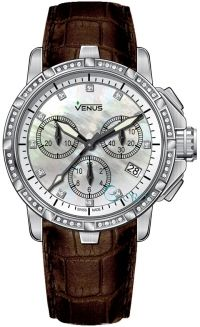 bef1951c001b Chronograph - White mother of pearl with rose-gold Arabic numerals with 10  full cut diamonds