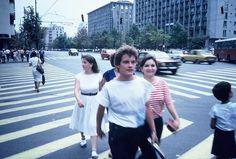Via București Chipuri bucurestene de la 1984-85, pe bulevardul Magheru