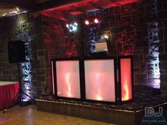 Red and White Wedding DJ Lighting