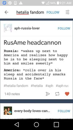 I don't ship RusAme but I can see this happening.