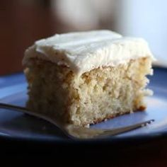 My family loves this cake.  Frost with a cream cheese frosting with one ripe banana added and confectioners' sugar sprinkled over the top.