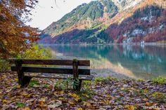 kloentalersee-28 Soundtrack, Autumn Scenery, Switzerland, Around The Worlds, Journey, Mountains, Rivers, Lakes, Amazing
