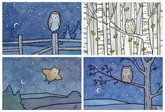Choose 3 mini prints by 100owls on Etsy, $29.00
