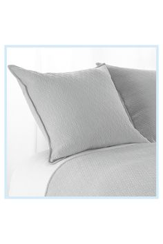 Aura Indi Diamond Matelasse European Pillow Sham In Light Grey - Give your bed an effortless update with the Aura Indi Diamond Matelasse European Pillow Sham. The subtle diamond weave design adds dimension as this all-cotton pillow sham infuses your space with sophistication. Grey Pillow Cases, Pillow Shams, Custom Pillows, Decorative Pillows, European Pillows, Pillow Quotes, Sewing Pillows, Best Pillow, Cotton Pillow