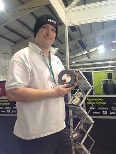 Our Nick modelling the REHAU Connections beanie hat