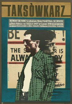 Giclee Print: Taxi Driver, Robert De Niro on Polish Poster Art, 1976 :