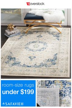 These 8x10 area rugs are the perfect size to fill a small living room or anchor a seating area in a larger space. Plus, they have all the beautiful colors and styles you expect from Safavieh.