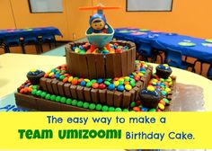 The easy way to make a Team Umizoomi Birthday Cake- Energizer Bunnies Mommy Reports