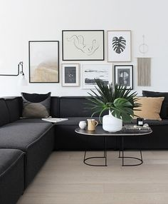 44 Fascinating Black Living Room Designs Ideas That Never Go Out Of Fashion Home Decoration Remodelling Ideas / / 44 Fascinating Black Living Room Designs Ideas That Never Go Out Of FashionFascinating Black Livi Fresh Living Room, Cute Living Room, Design Living Room, Living Room Sofa, Living Rooms, Living Room With Stove, Small Living, Modern Living, Minimalist Living