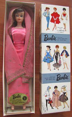1964 Vintage Barbie Dressed Doll - Arabian Nights 874 - Mattel - in Box Mattel Barbie, Play Barbie, Barbie And Ken, Barbie Stil, Barbie Wardrobe, Doll Display, Vintage Barbie Dolls, Barbie Collector, Barbie World