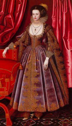 Susan Feilding, née Villiers, 1616. Reinette: English Portraits from 1540-1630