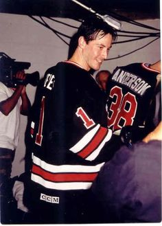 WHY DO WE LOVE KEANU? Because he played hockey with MacGuyver!!! (Richard Dean Anderson) Cool Level: Epic (chicfoo) keanu