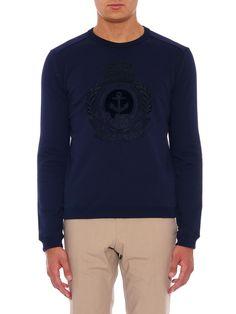 Embroidered cotton sweatshirt | Gucci.