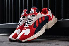 meet be44b b6236 Up Close with the adidas Yung-1 RedWhiteBlue and Orange