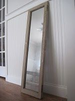 Krylon looking-glass paint.  Make a mirror look old!  LOVE IT