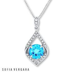 Who wouldn't love to find this dazzling blue topaz necklace under the tree?