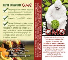 Designed Healthy Living,  What do you know about GMO's.  Pocket size card perfect to carry with you to the store.  $0.44