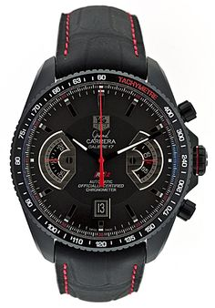 Tag Heuer Grand Carerra Men's Watch Men's Watches, Cool Watches, Watches For Men, Tag Heuer Automatic, Automatic Watch, Stylish Watches, Luxury Watches, Discount Watches, Brand Name Watches