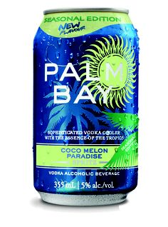 Hitting shelves across Canada, comes our new Palm Bay seasonal edition...Coco Melon Paradise! It's a blend of fresh honeydew with a hint of coconut.