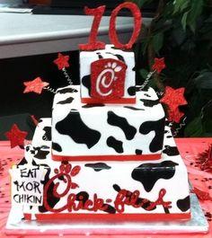 chikfila birthday cake | Chick-Fil-A Birthday cake