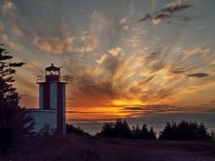 Sunset in Digby, N.S. - Point Prim Lighthouse