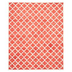 Moroccan-inspired rose colored rug