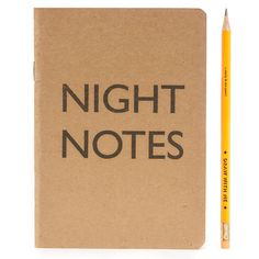 Marby & Elm Brown Night Notes Notepad ($14) ❤ liked on Polyvore featuring home, home decor and stationery