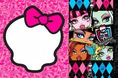 Invitaciones Gratis para Fiesta de Monster High.