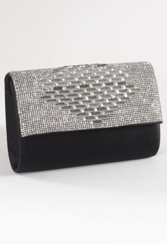 Satin Bag with Rhinestone Flap from Camille La Vie and Group USA