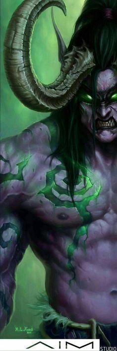 World Of Warcraft Characters, Fantasy Characters, Fantasy World, Fantasy Art, Final Fantasy, Illidan Stormrage, War Craft, Warcraft Art, Night Elf