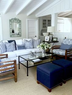 classic • casual • home: Blue and White Projects and an Easy Weeknight Party