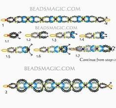 Free pattern for beaded bracelet Shalimar U need: seed beads 11/0 seed beads 8/0 superduo