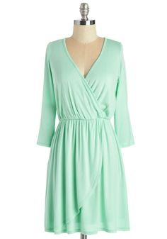 Softest Whisper Dress. Some garments softly call to you with their subtlety and versatility. #mint #modcloth
