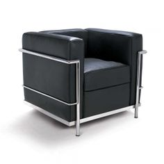 Le Corbusier, Pierre Jeanneret and Charlotte Perriand Black Leather Chair, Black Sofa, Leather Sofa, White Leather, Le Corbusier Sofa, Chair Design, Furniture Design, Furniture Removal, Office Furniture