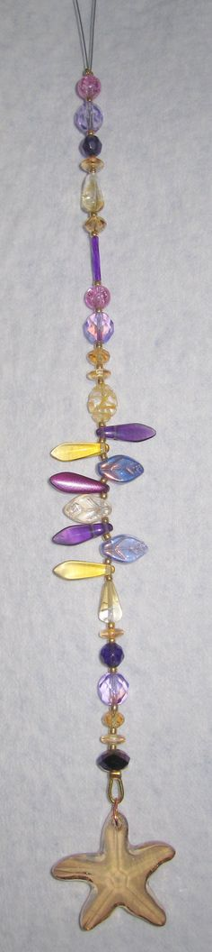 Golden Swarovski Starfish Crystal Sun Catcher Ornament