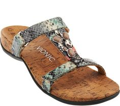 ae8a7c06d55 Vionic Orthotic Embellished Slide Sandals - Viviana