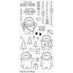 My Favorite Things BEAST FRIENDS Clear Stamps BB39 zoom image