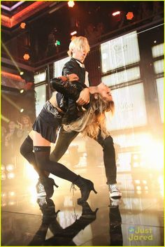 Dancing With the Stars - Allison Holker & Riker Lynch in rehearsals - season 20 - spring 2015