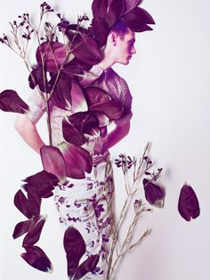 SARAH ILLENBERGER - manually layering flowers/petals onto image and re photographing it