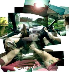 Excellent David Hockney inspired montage . .