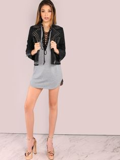 Shop Strappy Lace Up Tunic Dress HEATHER GREY online. SheIn offers Strappy Lace Up Tunic Dress HEATHER GREY & more to fit your fashionable needs.