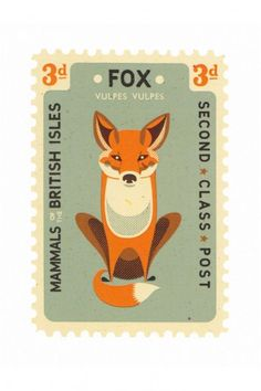 Fox Card by Tom Frost |